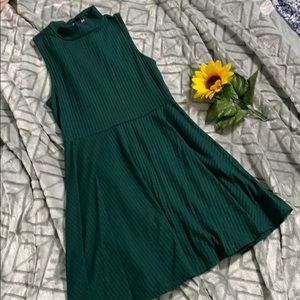 Olive Green Skater Dress 👗